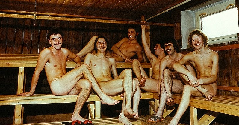 spa steam room with nude men