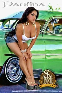 naked girl in a lowrider